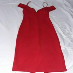 Red padded bra dress